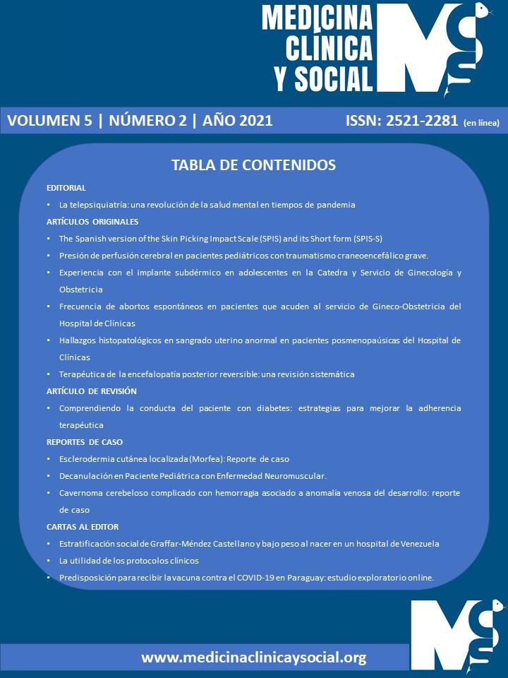 Ver Vol. 5 Núm. 2 (2021): MAYO-AGOSTO